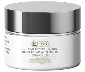 Ultimate Deep Healing Relief Cream with Emu Oil 1oz - 60mg CBD